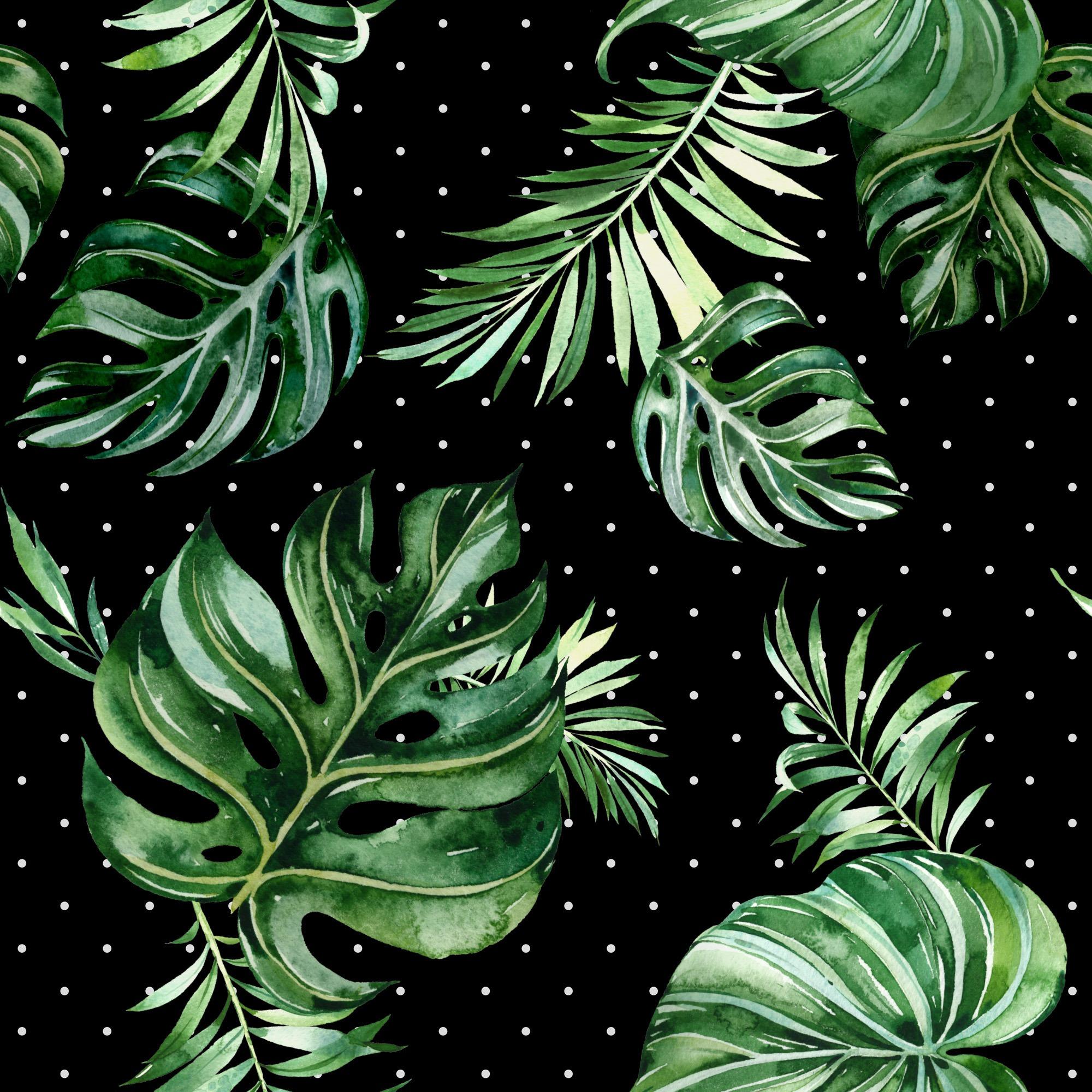 tessuto-di-cotone-premium-foglie-tropicali---saviano