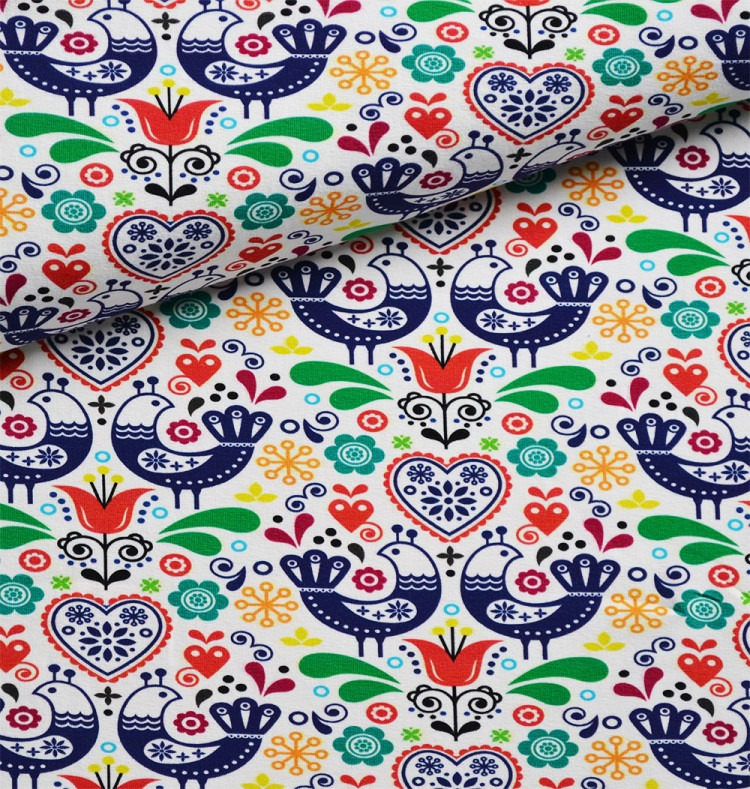 tessuto-felpa---uccellini-folk-disegno-5-colorati