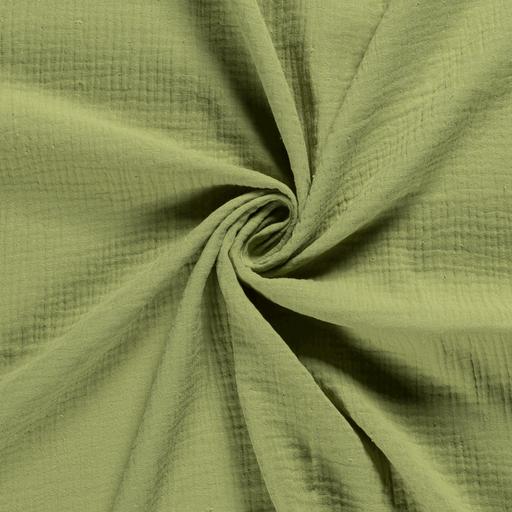 mussola-/-doppia-garza-di-cotone---verde-chiaro