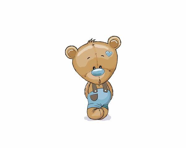 cotone-premium-pannello-m+-orso-blu
