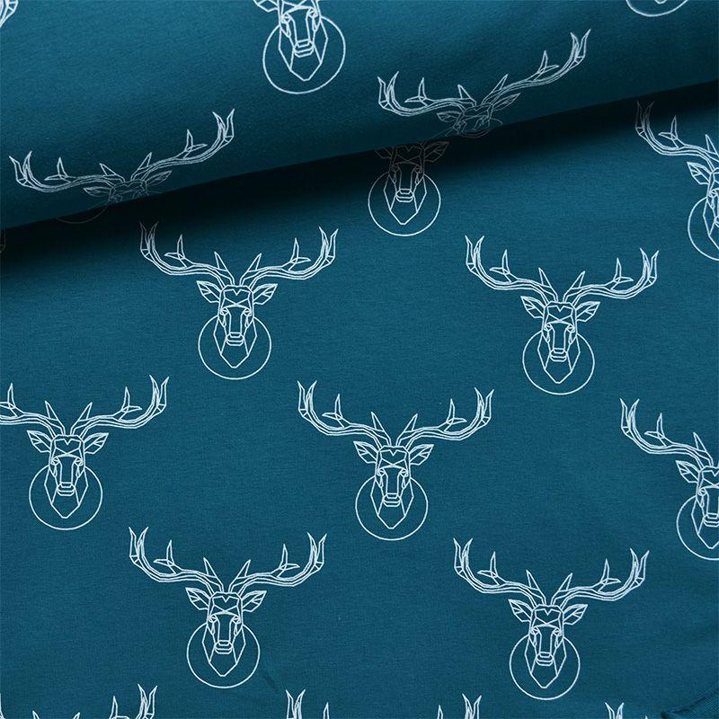 tessuto-jersey---deer-bianco/petrol-by-takoy®