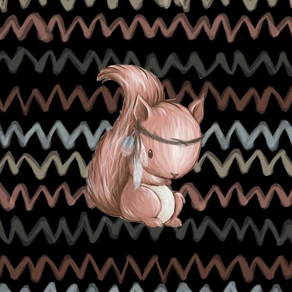 cotone-premium-pannello-m-forest/foresta-nero---scoiattolo