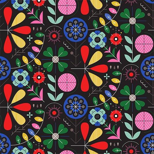 tessuto-felpa-folk-geometrico-nero