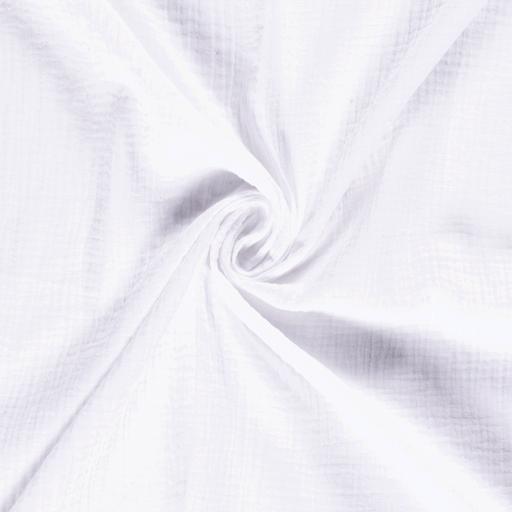mussola-/-doppia-garza-di-cotone---bianco