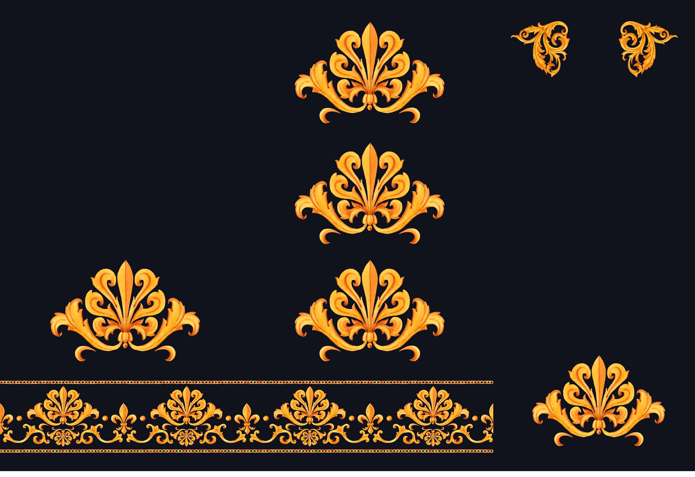 poliestere-impermeabile---pannello-ornamento-d'oro