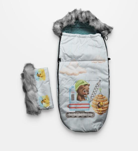pannello-per-sacco-termico-in--poliestere-impermeabile-155x105-disegno-dolce-orso-bianco