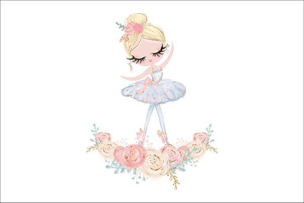 cotone-premium-pannello-l-ballerina-e-grande-fiore---bianco