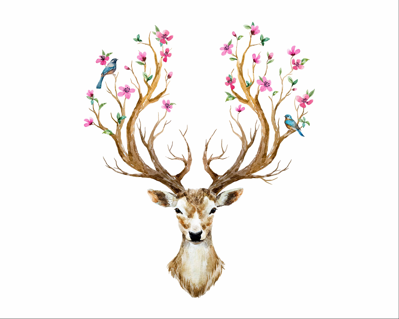 cotone-premium-pannello-m+-cervi-e-fiori