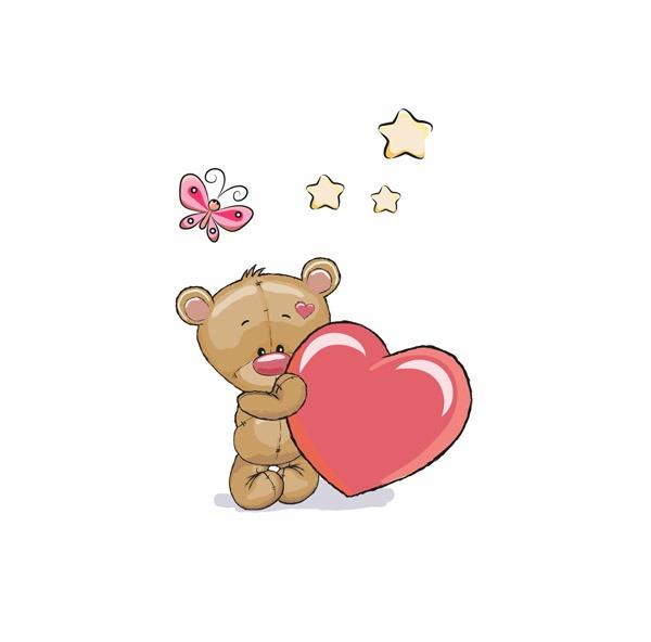 cotone-premium-pannello-m-orso-con-il-cuore
