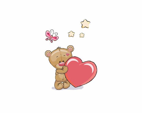 cotone-premium-pannello-m+-orso-con-il-cuore-