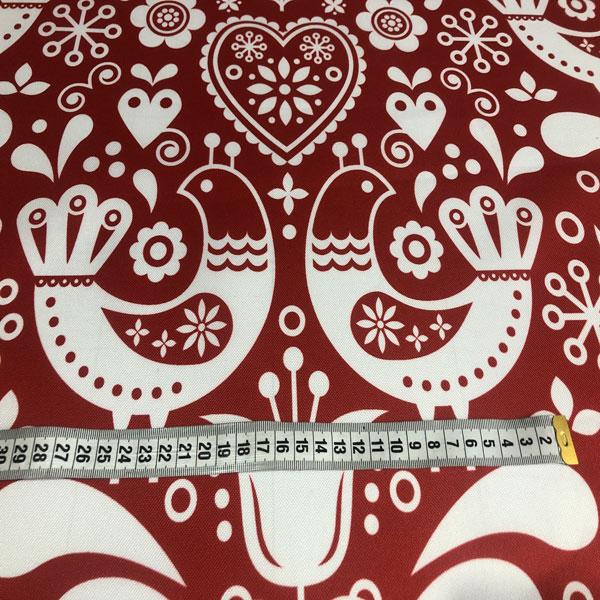 tessuto-stampato-poliestere-impermeabile-td/ns-uccelli-bianchi-su-rosso