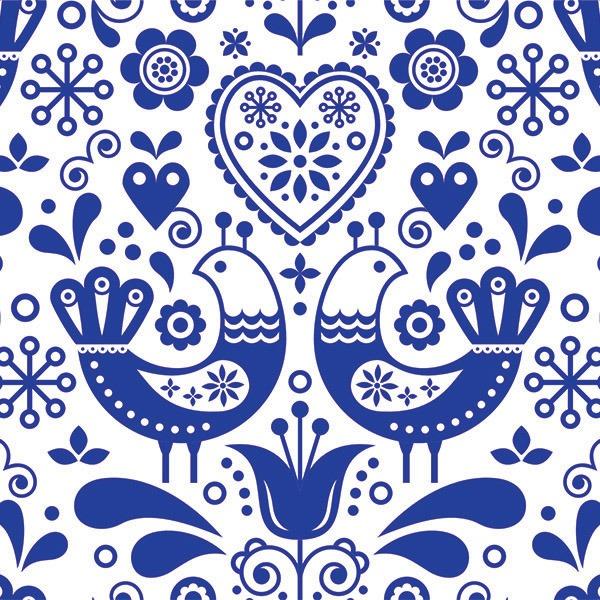 lino-uccelli-blu-su-bianco